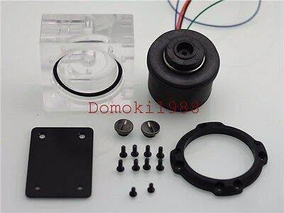 Olike3C 4PIN PMW Ultra-quiet high flow pump compatible all D5 GAP water Cooling