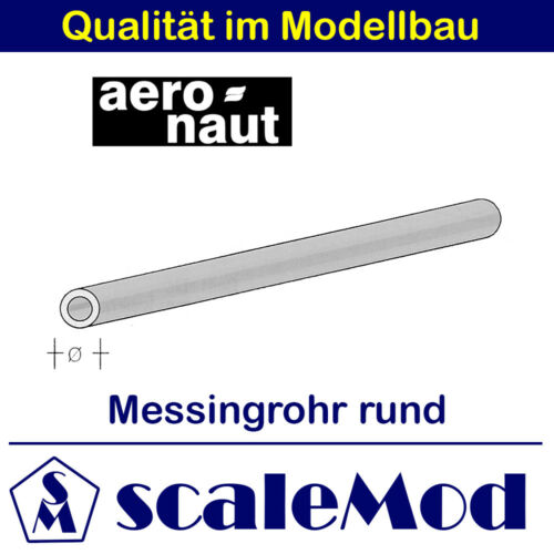 Aeronaut (7714/05) Messingrohr rund 330 mm  1,8/1,4 mm