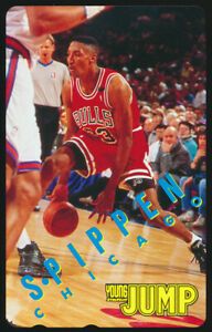 1990s-Scottie-Pippen-Young-Jump-Japanese-Promo-Telephone-Card-Chicago-Bulls-NBA