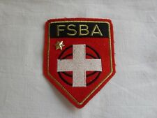 2016 Rio - Swiss Basketball Federation FSBA embroidered patch