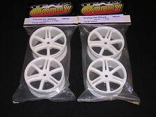 Team Corally Touring Car Wheels 24mm White spoke 12mm Hex cor75824 (2 pair)