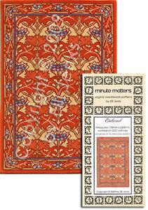 Cross Stitch or Needlepoint Miniature Rug Carpet Pattern Bascombe Manor