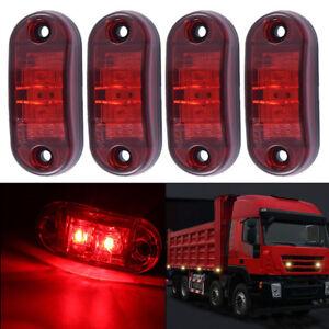 Image is loading 10x-2-LED-Side-Marker-Lights-LED-Truck- & 10x 2 LED Side Marker Lights LED Truck Side Light Trailer Red Light ...