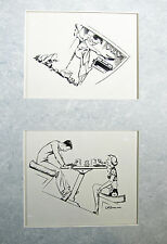 Lois Darling 2 original pen and ink drawings for Yachting Magazine January 1942