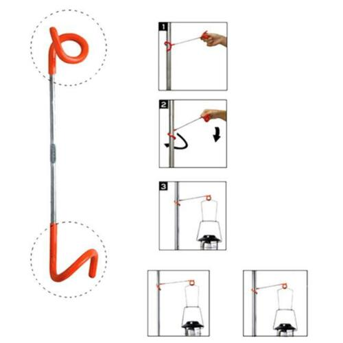 2 way Lantern Light Lamp Hanger Tent Pole Post Hook for Outdoor Camping KM