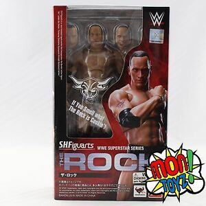 NEW-Bandai-SH-Figuarts-WWE-Superstar-The-Rock-Action-Figure-S-H-Figuarts