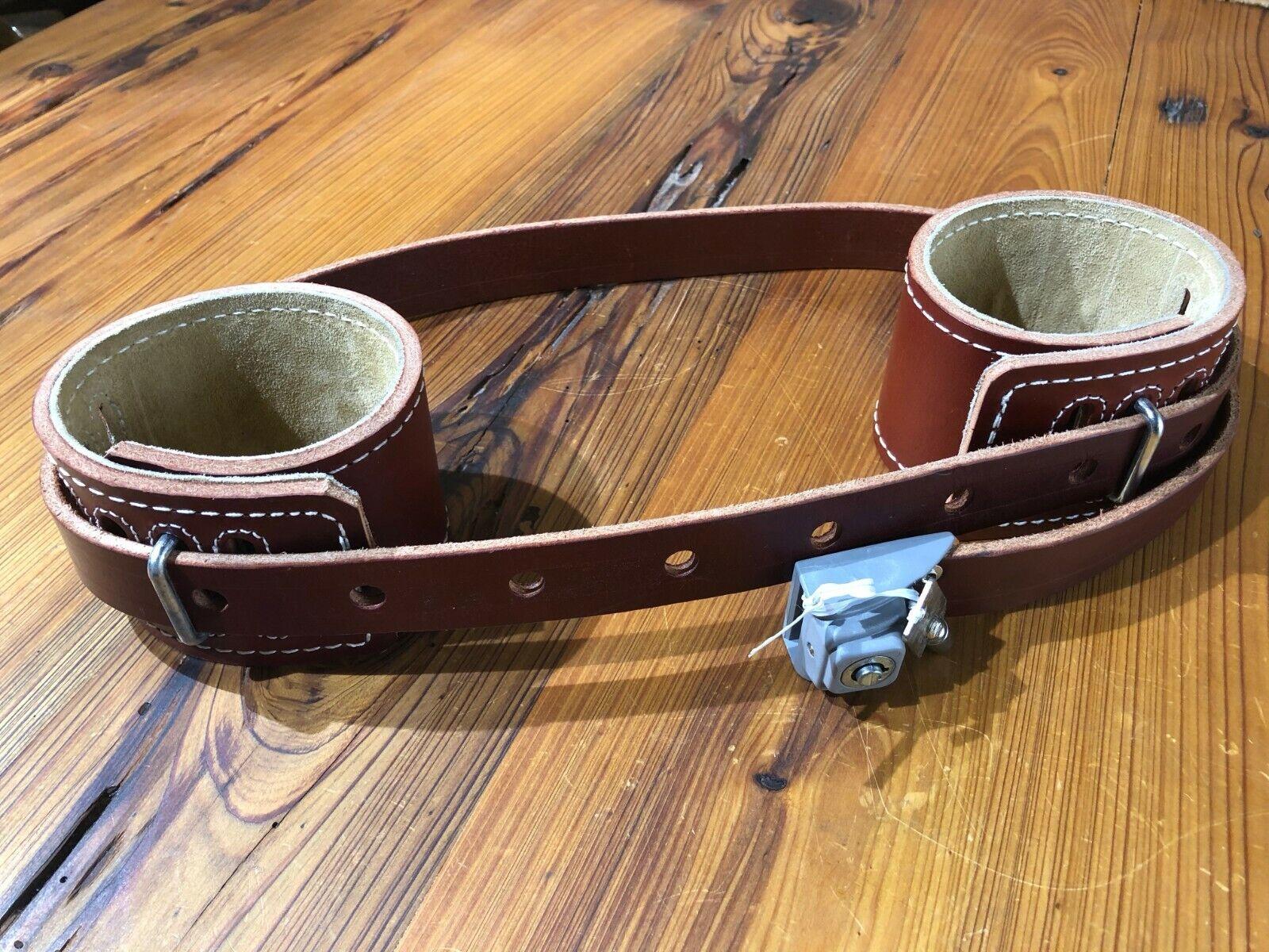 SMspade Real Leather Black Neck Slave Restriant Collar