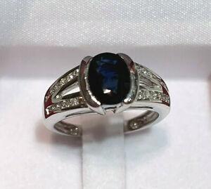 BAGUE joaillerie Saphir Diamants Or 18K /Sapphire Diamonds Ring 18K Gold New !