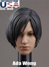 IN STOCK 1/6 Resident Evil Ada Wong Head Sculpt For Hot Toys Phicen USA SELLER