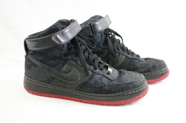 Nike Air Force 1 Jordan Hi Supreme LE Black Red Python Snake 375379 001 Sz 10