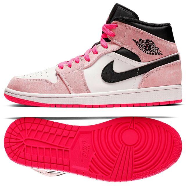 pretty nice 94847 881ad Nike Air Jordan 1 Mid SE Aj1 OG Crimson Tint Black HYPER Pink US Size 11