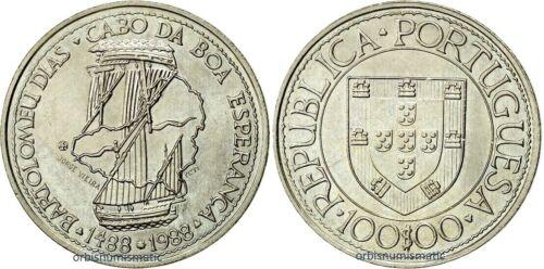 1988 PORTUGAL 100 Escudos Commemorative Bartolomeu Dias Good Hope Cape UNC G314