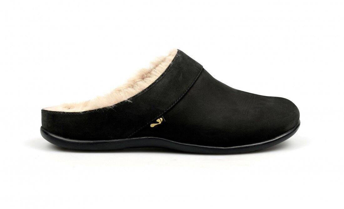 Le donne si sforzano di vienna Pantofole nero pelle nabuk Lussuoso Pantofole vienna in Pelliccia Sintetica df5ddb