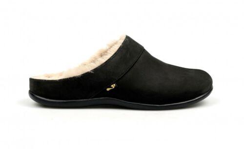 Lining Black Nubuck Faux Slippers Fur Strive Women Luxurious Vienna 8qwn4UE
