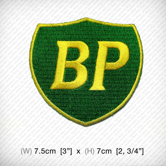 New BP Embroidered Patch Iron on or sew , Motor Sports Racing Oil Power Engine