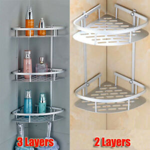 Image Is Loading Triangular Shower Caddy Shelf Bathroom Wall Corner Rack