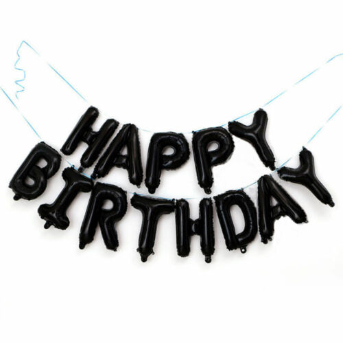 """16/"""" Happy Birthday Balloon Banner Bunting Self Inflating Letter Foil balloons"""