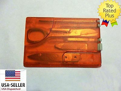 NEW Travel Survival Card credit card multi tool kit knife 8 tools Swiss Style!