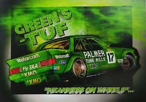 1984-Dick-Johnson-Ford-XE-Bathurst-Green-039-s-Tuff-A3-Poster-Print-Picture-Image