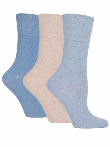 SOLRH73G3 3 Ladies Gentle Grip® Cotton Non Elastic Socks UK 4-8 Fashion