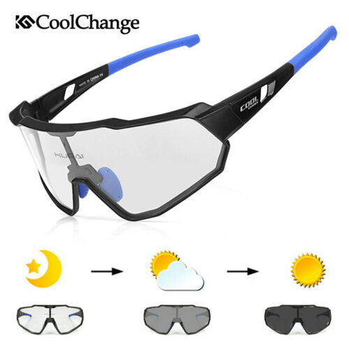 CoolChange Cycling Photochromatic Sunglasses Bicycle Sport Glasses UV400 Goggles