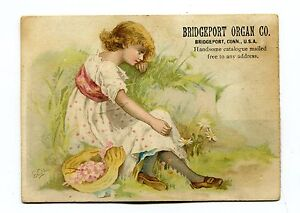 Victorian-Trade-Card-BRIDGEPORT-ORGAN-CO-girl-in-field-CT