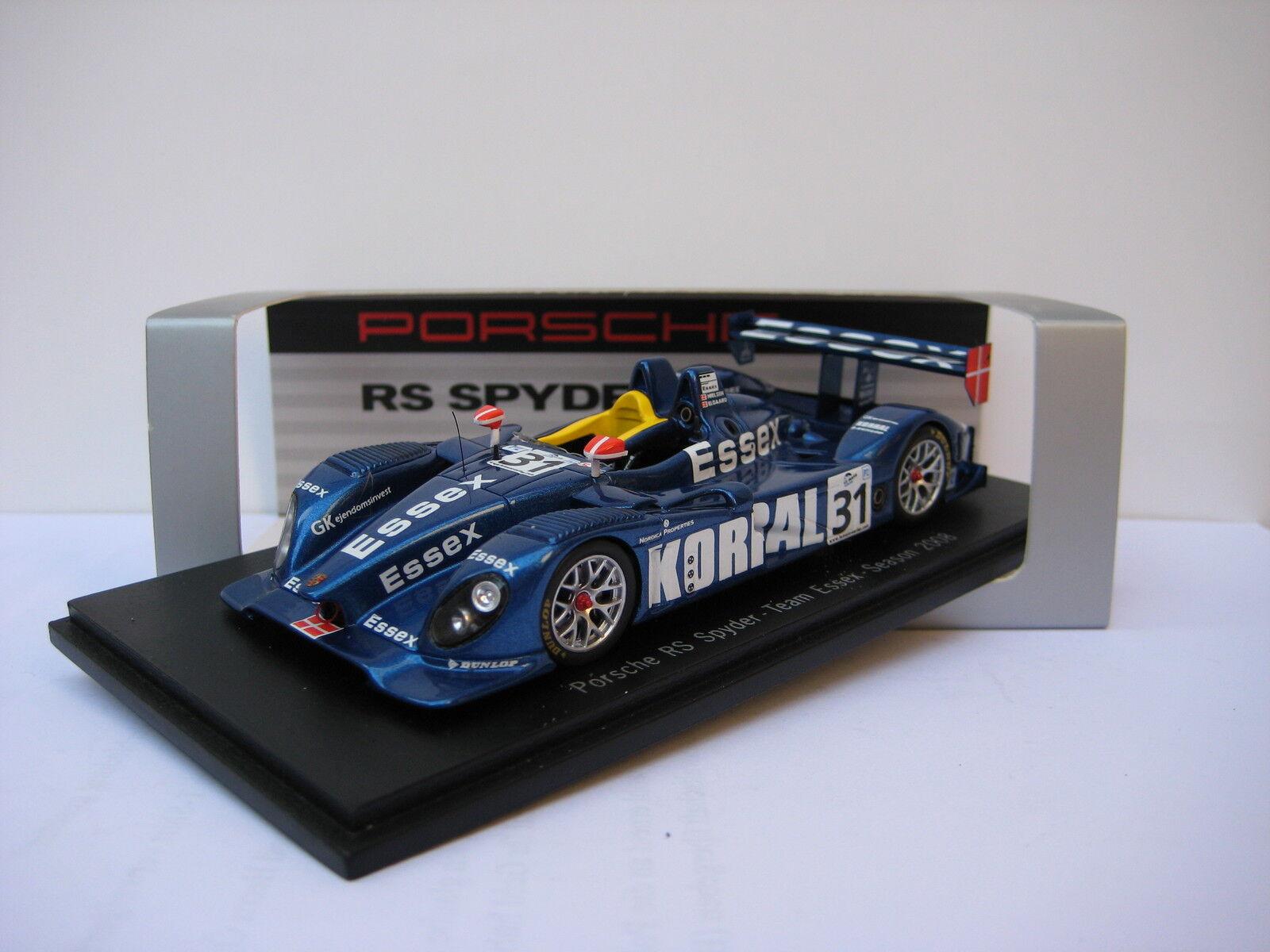 Porsche RS Spyder    31  Team Essex , Season 2008,  1 43 neuwertig  | New Product 2019  2d3723