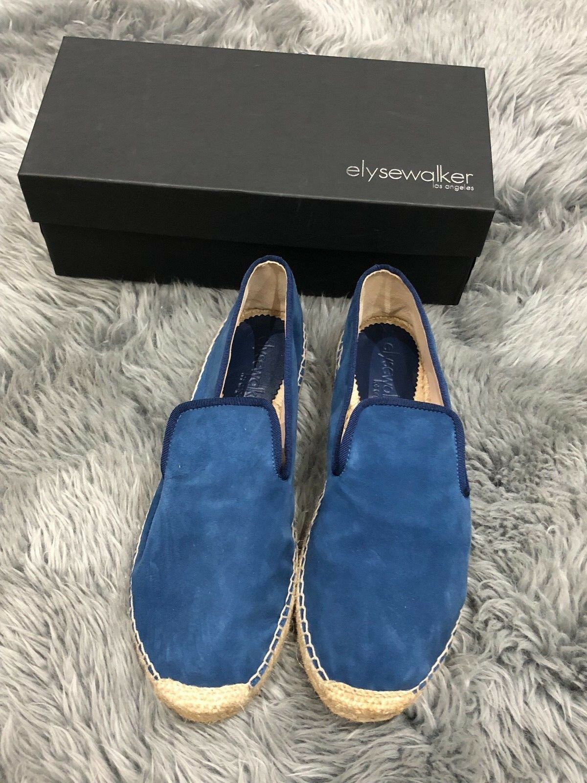 NIB ELYSE WALKER DEE bluee Navy Suede Espadrilles Flats Loafers Loafers Loafers shoes Sz 10  355 4e48e6
