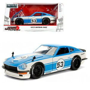 Jada-1-24-JDM-Tuners-Die-Cast-1972-Datsun-240Z-Car-Blue-Model-Collection-New