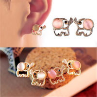 1 Pair Chic Women Fashion Lovely Cute Baby Elephant Opal Stud Earrings Jewellery