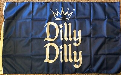 Dilly Dilly Flag Banner 3x5 ft Bud Light Beer Budweisers Garage Blue