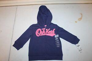 611f7fb18 new baby girls toddler OshKosh B gosh Baby Girls  Logo Jacket 12 ...