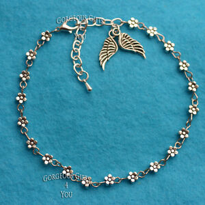 Unique-Boho-Daisy-Chain-Flower-Guardian-Angel-Wings-Anklet-Ankle-Bracelet-Gift