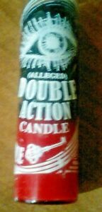 Details about REVERSE DOUBLE ACTION 7 DAY 2 COLOR (RED & BLACK) UNSCENTED  CANDLE IN GLASS