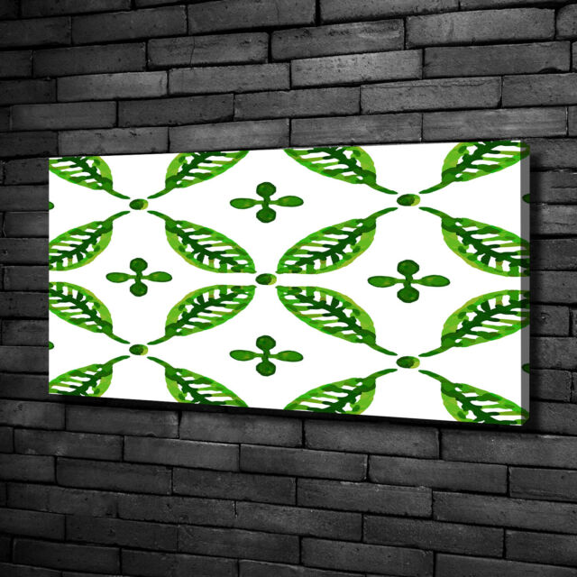 Leinwandbild Kunst-Druck 125x50 Bilder Blumen Pflanzen Tropische Blätter
