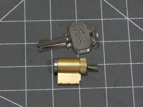 NEW Pella Lock Cylinder 2 Keys Door Brass Satin Nickel Fork End 1Pc
