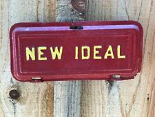 New Ideal Antique Tractor Part Farm Advertising Cast Iron Red Amp Yellow