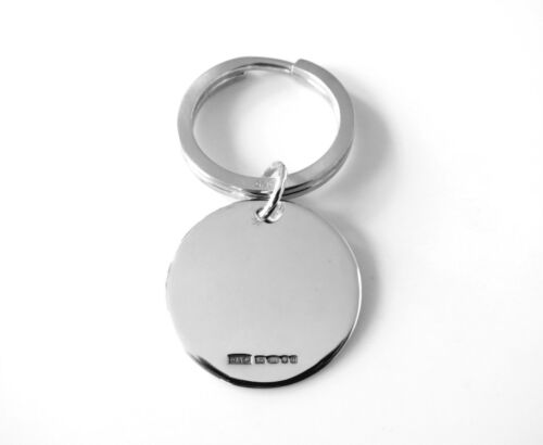 SOLID STERLING SILVER HALLMARKED KEYRING KEY RING MADE IN LONDON ENGLAND