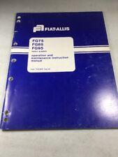 Fiat Allis Fg75 Fg85 Fg95 Iveco Graders Operation And Maintenance Manual