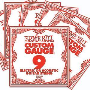 6 pack ernie ball custom gauge 9 s guitar single strings electric acoustic 5060464376467 ebay. Black Bedroom Furniture Sets. Home Design Ideas