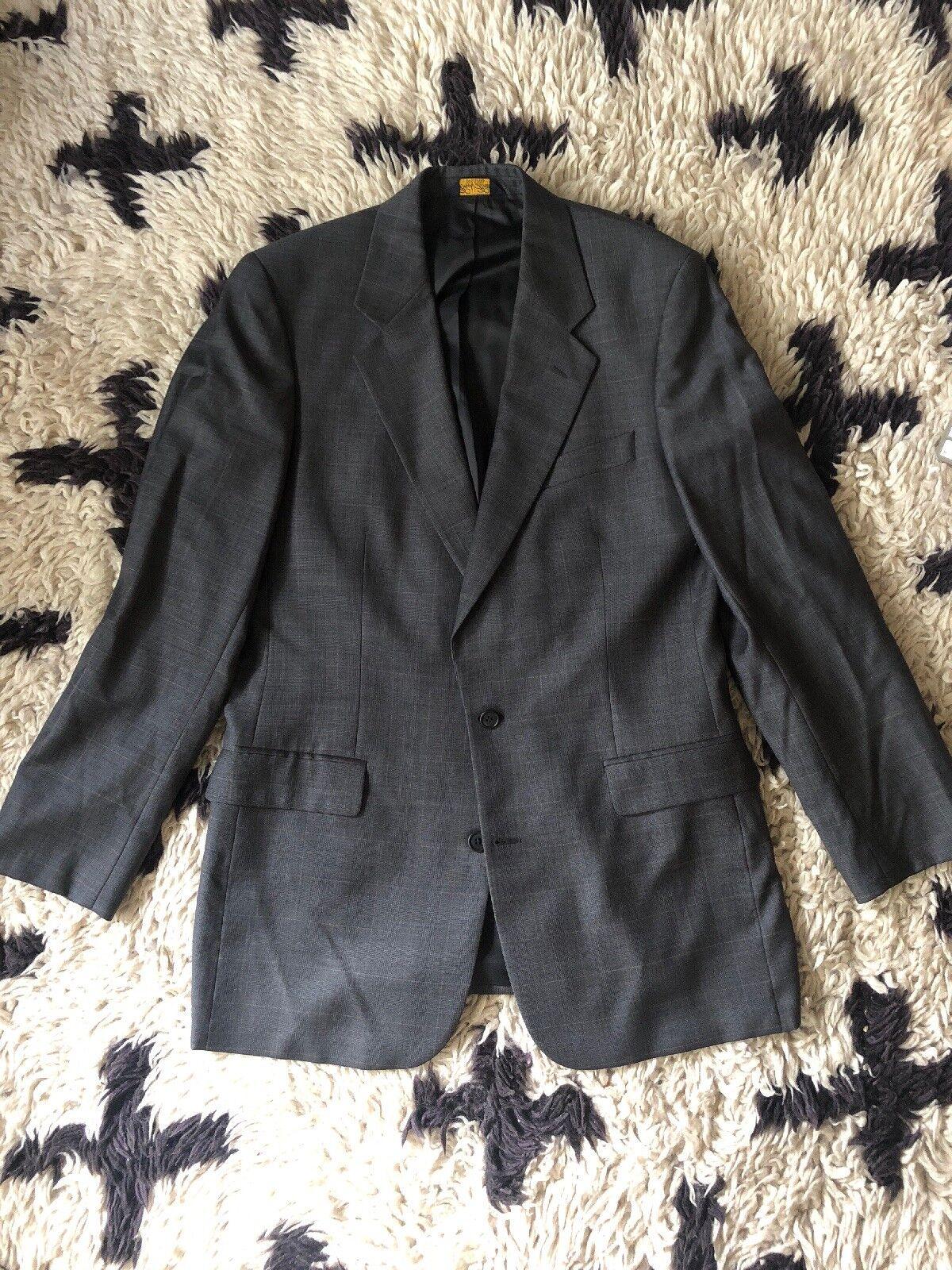 Brooks Brothers grau Glenplaid 100% Wool Suit - 41L  34x32