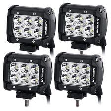 "Auxbeam 4 Pcs 4"" 18W CREE LED Work Light Bar Spot Beam Waterproof Auxiliary Lamp"