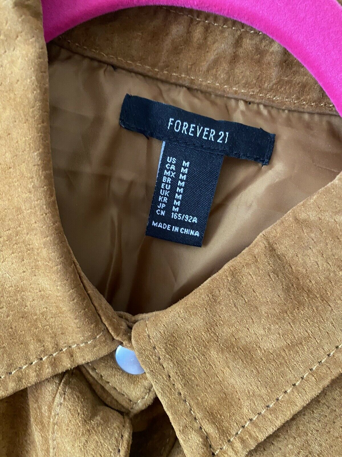forever 21 leather jacket Shirt Size M - image 3