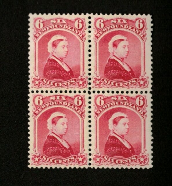 NEWFOUNDLAND 1894 VF OG LH SCOTT# 36  4 BLOCK CARMINE LAKE VICTORIA STAMPS