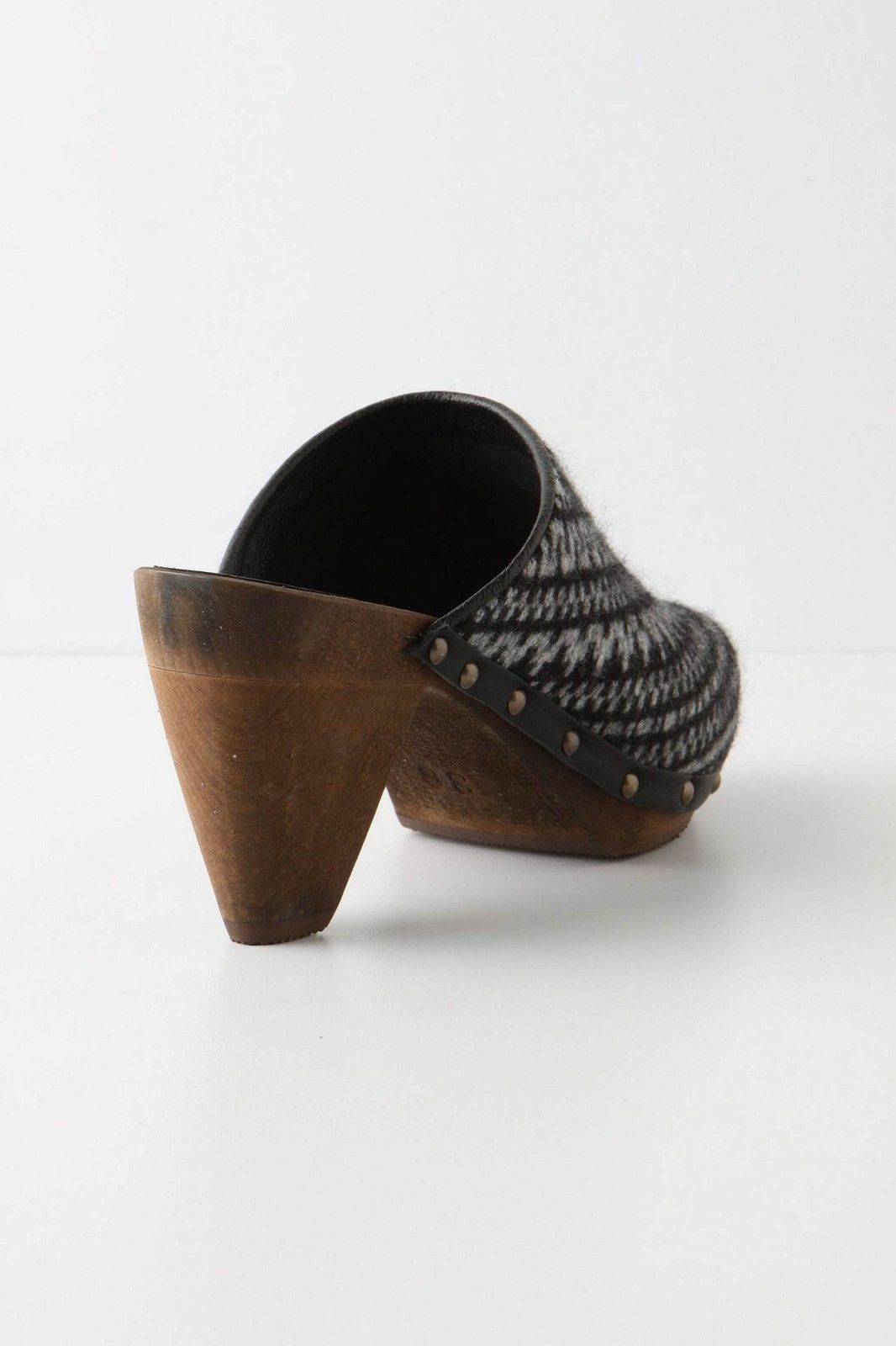 Anthropologie Spinning Heels Wheel Clogs High Heels Spinning Patterned schuhes By Sanita, 38 & 40 4165dd