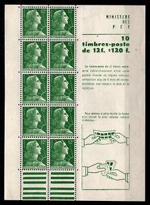 Feuille de 10 Marianne de MULLER 12f, Neufs ** = Cote 55 € / Timbre France 1010