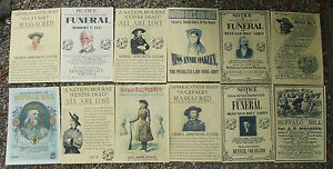 Custer-Buffalo-Bill-WILD-WEST-POSTERS-Novelty-reproductions-SET-G-Western