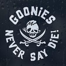 Goonies Family Skull Pirate Cros Sabers Never Say Die Car Decal Vinyl Sticker