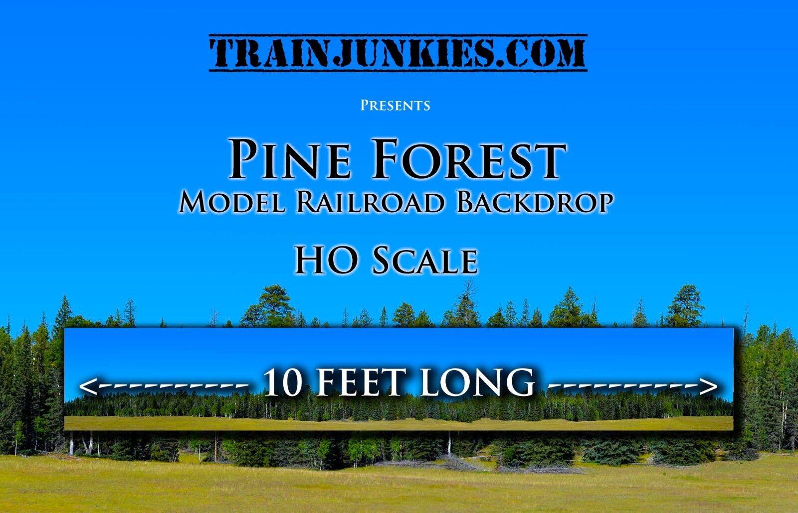 minoristas en línea Trainjunkies Pinar Escala Ho Maqueta De Tren telón de fondo fondo fondo 120 x18   preferente