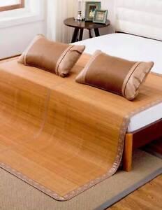 Bamboo bed mat cool summer mat both size sheet rug floor mat  夏季双面折叠原色竹席凉席